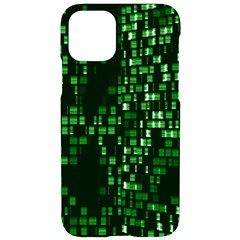 Abstract Plaid Green Iphone 11 Black Uv Print Case
