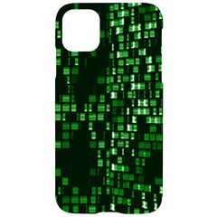 Abstract Plaid Green Iphone 11 Pro Black Uv Print Case