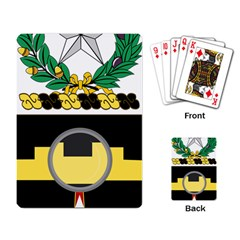 Coat Of Arms Of United States Army 136th Military Police Battalion Playing Cards Single Design (rectangle) by abbeyz71
