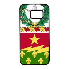 Coat Of Arms Of United States Army 136th Regiment Samsung Galaxy S7 Black Seamless Case