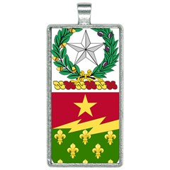 Coat Of Arms Of United States Army 136th Regiment Rectangle Necklace
