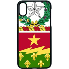 Coat Of Arms Of United States Army 136th Regiment Iphone Xs Seamless Case (black)