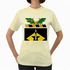 Coat Of Arms Of United States Army 49th Finance Battalion Women s Yellow T Shirt