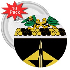 Coat Of Arms Of United States Army 49th Finance Battalion 3  Buttons (10 Pack)