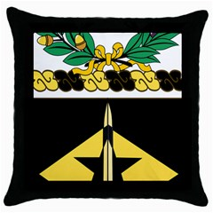 Coat Of Arms Of United States Army 49th Finance Battalion Throw Pillow Case (black)