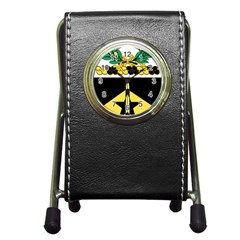 Coat Of Arms Of United States Army 49th Finance Battalion Pen Holder Desk Clock