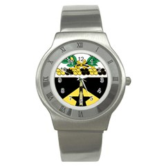 Coat Of Arms Of United States Army 49th Finance Battalion Stainless Steel Watch