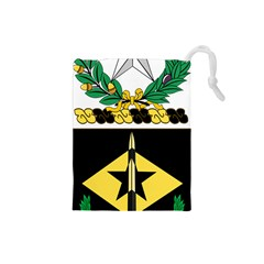 Coat Of Arms Of United States Army 49th Finance Battalion Drawstring Pouch (small)