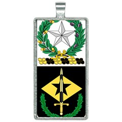 Coat Of Arms Of United States Army 49th Finance Battalion Rectangle Necklace