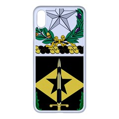 Coat Of Arms Of United States Army 49th Finance Battalion Iphone Xs Max Seamless Case (white)