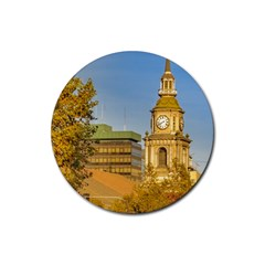San Francisco De Alameda Church, Santiago De Chile Rubber Round Coaster (4 Pack)