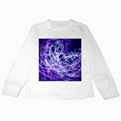 Abstract Space Kids Long Sleeve T Shirts