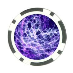 Abstract Space Poker Chip Card Guard