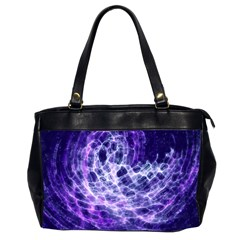 Abstract Space Oversize Office Handbag (2 Sides)