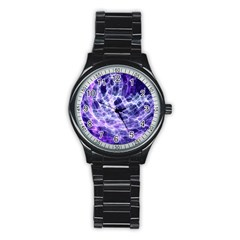 Abstract Space Stainless Steel Round Watch