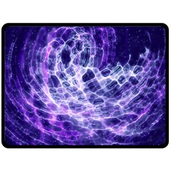 Abstract Space Double Sided Fleece Blanket (large)