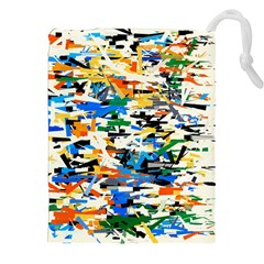 Sahara Street Painting Pictures Drawstring Pouch (2xl)