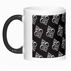 French France Fleur De Lys Metal Pattern Black And White Antique Vintage Black Rocker Morph Mugs by Quebec