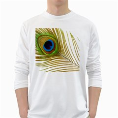 Peacock Feather Plumage Colorful Long Sleeve T-shirt by Sapixe