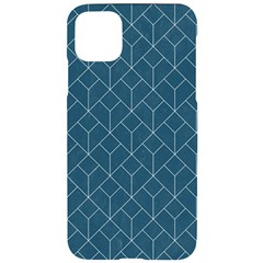 Blue Artdeco Pattern Iphone 11 Pro Max Black Uv Print Case