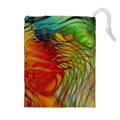 Texture Art Color Pattern Drawstring Pouch (xl) by Sapixe
