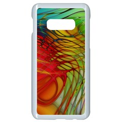 Texture Art Color Pattern Samsung Galaxy S10e Seamless Case (white) by Sapixe