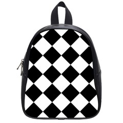 Grid Domino Bank And Black School Bag (small) by Sapixe