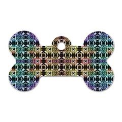 Abstrait Formes Colors Dog Tag Bone (two Sides) by kcreatif