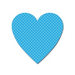 White Polka Dots On Blue Ink Heart Magnet by goljakoff