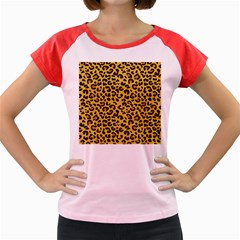 Cheetah Pattern Women s Cap Sleeve T Shirt