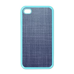 Blue Denim Fabric Pattern Iphone 4 Case (color) by goljakoff