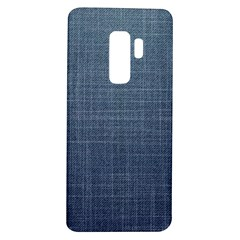 Blue Denim Fabric Pattern Samsung Galaxy S9 Plus Tpu Uv Case by goljakoff