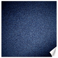 Blue Jeans Pattern Canvas 12  X 12  by goljakoff
