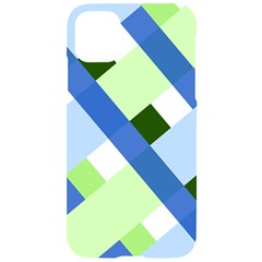 Modern Blue And Green Stripes Iphone 11 Pro Black Uv Print Case