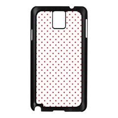 Red Polka Dot Samsung Galaxy Note 3 N9005 Case (black)