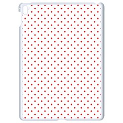 Red Polka Dot Apple Ipad Pro 9 7   White Seamless Case by goljakoff
