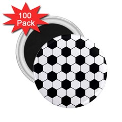 Soccer Ball 2 25  Magnets (100 Pack)  by goljakoff
