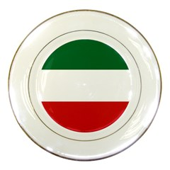 Flag Patriote Quebec Patriot Red Green White Modern French Canadian Separatism Black Background Porcelain Plates by Quebec