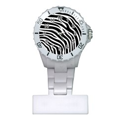 Zebra Pattern Plastic Nurses Watch