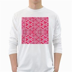Abstrait Formes Rose  Long Sleeve T-shirt by kcreatif