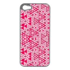 Abstrait Formes Rose  Iphone 5 Case (silver) by kcreatif