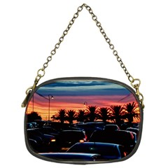 Urban Sunset Scene, Punta Del Este   Uruguay Chain Purse (two Sides)