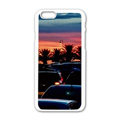Urban Sunset Scene, Punta Del Este   Uruguay Iphone 6/6s White Enamel Case