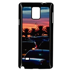 Urban Sunset Scene, Punta Del Este   Uruguay Samsung Galaxy Note 4 Case (black) by dflcprintsclothing