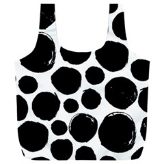 Black Spots Full Print Recycle Bag (xxl)