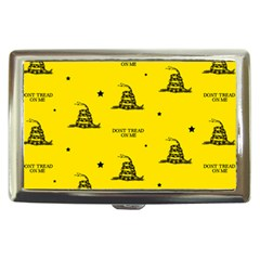 Gadsden Flag Don t Tread On Me Yellow And Black Pattern With American Stars Cigarette Money Case