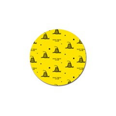Gadsden Flag Don t Tread On Me Yellow And Black Pattern With American Stars Golf Ball Marker