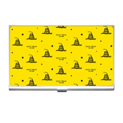Gadsden Flag Don t Tread On Me Yellow And Black Pattern With American Stars Business Card Holder