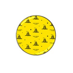 Gadsden Flag Don t Tread On Me Yellow And Black Pattern With American Stars Hat Clip Ball Marker (10 Pack)
