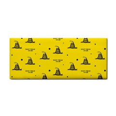 Gadsden Flag Don t Tread On Me Yellow And Black Pattern With American Stars Hand Towel